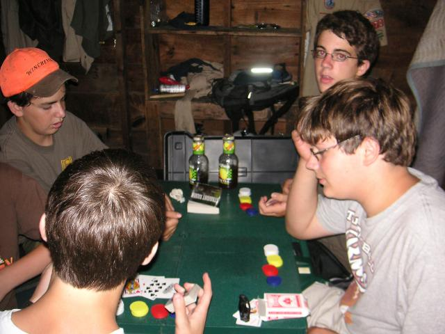 Playing cards - Camp Sequassen - July 2006